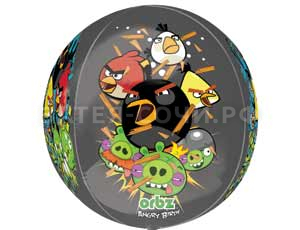"Шар 3D сфера 16"" Angry Birds"