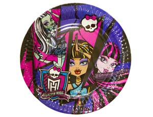Тарелка Monster High 23см 8шт/уп
