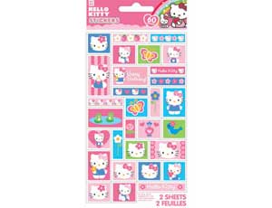 Наклейка Hello Kitty Цветы 60шт